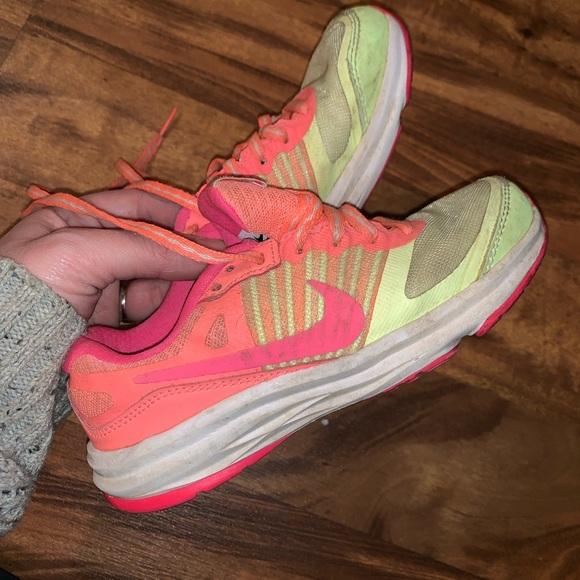 Nike Other - Girls size 11 toddler Nike's neon yellow/orange